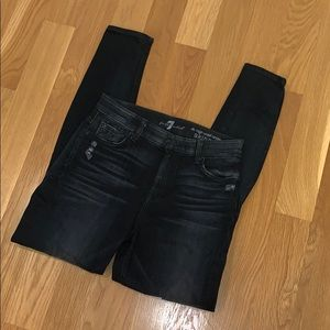 Size 26 7 for all Mankind high waist ankle skinny